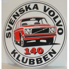 Sticker Svenska Volvo 140 Klubben