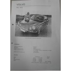 Afstelgegevens Volvo 164 1972 Olyslagers