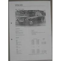Afstelgegevens Volvo 164 1973 afstelgegevens / Olyslagers