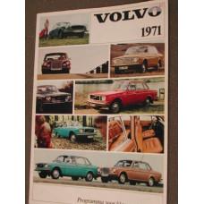 Folder Volvo 1971 kleur & bekleding NL