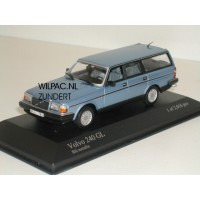 Volvo 245 240 Estate 1986 blauw met. Minichamps 1:43