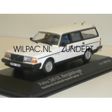 Volvo 245 240 Estate 1986 wit Minichamps 1:43