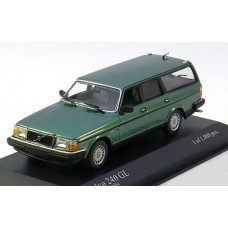 Volvo 245 240 Estate 1986 groen met. Minichamps 1:43