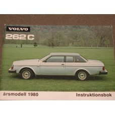 Instructieboek Volvo 262C Bertone 1980 Zweeds