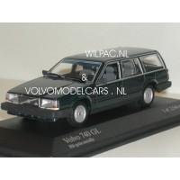 Volvo 740 Estate 1986 blauw/groen met. Minichamps 1:43