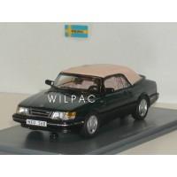 SAAB 900 Cabrio groen metallic 1987 dicht NEO 1:43