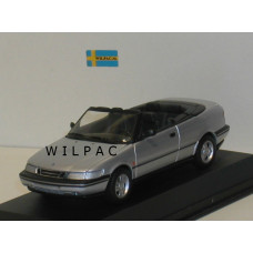 SAAB 900 Cabrio zilvergrijs metallic SMCC 1:43