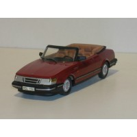 Saab 900 Cabrio Turbo donkerrood 1987 Somerville #130 MARGE 1:43