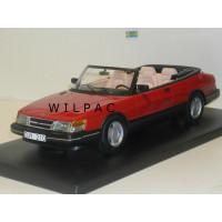 SAAB 900 Cabrio rood 1987 NEO 1:18