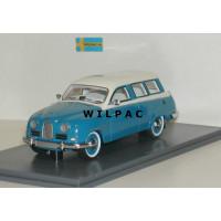 SAAB 95 1959 middenblauw/wit NEO