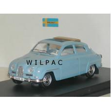 SAAB 96 1960 blauw met open dak Trofeu
