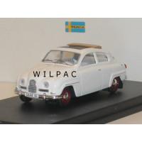 SAAB 96 1960 wit met open dak Trofeu