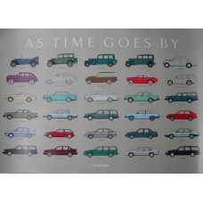 Poster As time goes by - Volvo 1992, Dé Originele ! 70 x 100 cm.