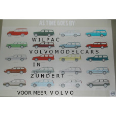 Poster As time goes by - Volvo Estates 70 x 100 cm.