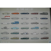 Poster As time goes by - Volvo 200 serie 70 x 100 cm.