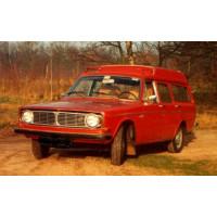 1970 Volvo 145 Express 1:1 rood NL grijs kenteken