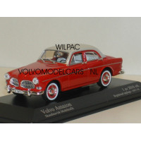 Volvo Amazon 1959 two-tone rood + wit Minichamps 1:43