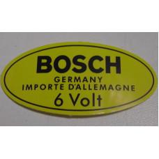 Sticker bobine Volvo Bosch 6 VOLT