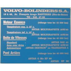 Sticker Volvo Bolinders France SA Frankrijk