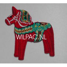 Badge Dalarna paard / geborduurd / opstrijkbaar
