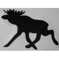 Sticker eland 125 x 88 zwart