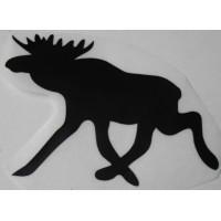Sticker eland 125 x 88 zwart