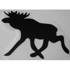 Sticker eland 90 x 62 zwart