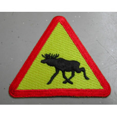 Badge eland verkeersbord / geborduurd / opstrijkbaar