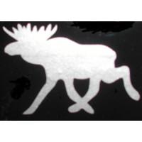 Sticker eland 125 x 88 zilvergrijs metallic