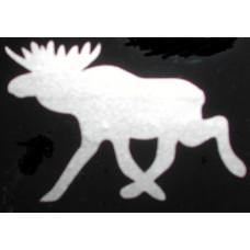 Sticker eland 90 x 62 zilvergrijs metallic