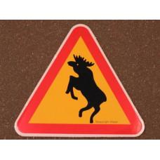 Sticker steigerende eland verkeersbord