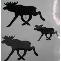 Sticker eland set v. 3 stuks; 75+105+130 mm.