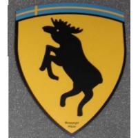 Sticker eland steigerend wapen KLEIN 28 x 36
