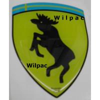 3D sticker eland steigerend wapen