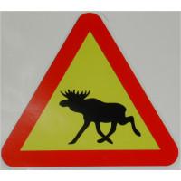 Sticker eland verkeersbord