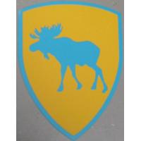 Sticker eland / XC90 PUV op wapen groot