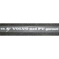 Sticker en ny VOLVO med PV-garanti