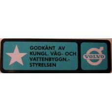 Sticker 3-puntsgordel AZ/P1800 Godkänt av...