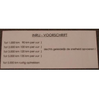 Sticker inrij instructie Volvo NEDERLANDS zilver