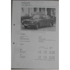 Afstelgegevens Volvo 164 1969-1971 Olyslagers