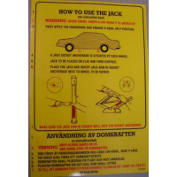 Sticker How to use the jack / krik Volvo