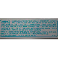 Sticker koelvloeistof 1975+ blauw/wit