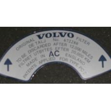 Sticker luchtfilter 672280 SU dik