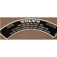 Sticker Volvo luchtfilter 687147 B20 Stromberg