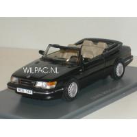 SAAB 900 Cabrio zwart 1987 NEO 1:43