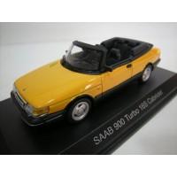 SAAB 900 Cabrio geel 1987 Norev 1:43