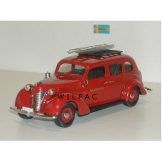 Volvo PV802 1938 Brandchef Zweedse brandweer rood Rob Eddie RE24x 1:43