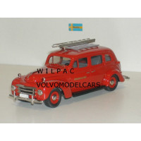 Volvo PV831 1950 Brandchef, Zweedse Brandweer rood Rob Eddie RE04x 1:43