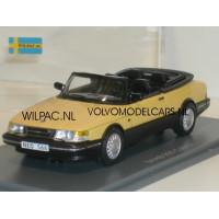 SAAB 900 Cabrio geel 1987 NEO 1:43