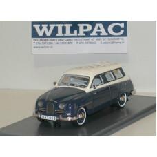 SAAB 95 donkerblauw/wit 1959 NEO